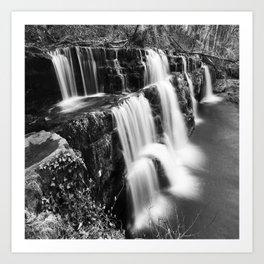 Waterfalls in Brecon Art Print