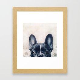 Hand painting French Bulldog Dog illustration original painting print Framed Art Print