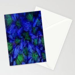Blue And Green Marble Abstract Stationery Cards