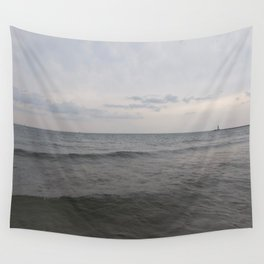 Distant Lighthouse on Lake Michigan Wall Tapestry