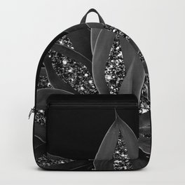 Gray Black Agave with Black Silver Glitter #2 #shiny #tropical #decor #art #society6 Backpack