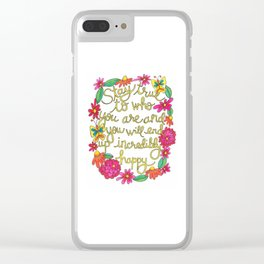 Incredibly Happy Clear iPhone Case