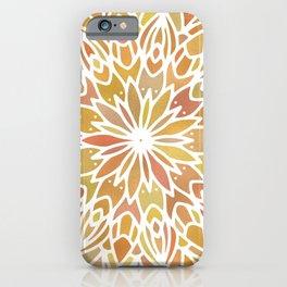 Mandala Desert Copper Gold iPhone Case