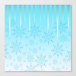 Blue Winter Wonderland Canvas Print