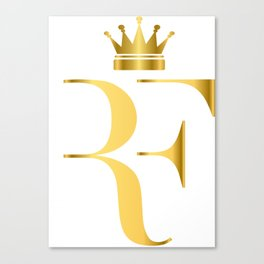 Roger Federer The King of Tennis Canvas Print