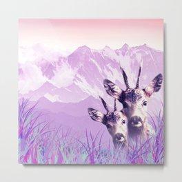 Deer and love Metal Print
