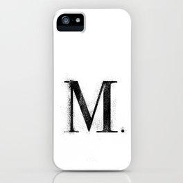 M. - Distressed Initial iPhone Case