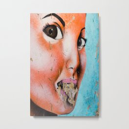 Brown Eyed Street Girl Metal Print
