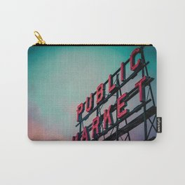 Seattle Pike Place Public Market Sign at Dawn Carry-All Pouch