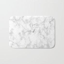 Marble pattern on white background Bath Mat