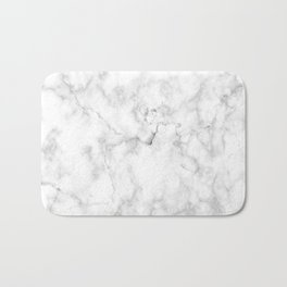 Marble pattern on white background Bath Mat