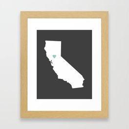 California Love in Charcoal Framed Art Print