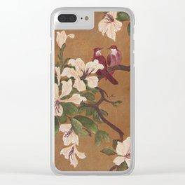 Love Birds - in Oil Clear iPhone Case