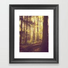 She Experienced Heaven on Earth Among the Trees Framed Art Print
