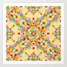Pastel Mandala Rainbow Art Print