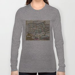 Vintage Map of Switzerland (1747)  Long Sleeve T-shirt