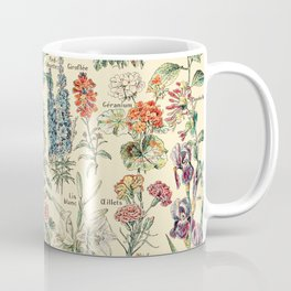 Vintage Floral Drawings // Fleurs by Adolphe Millot XL 19th Century Science Textbook Artwork Coffee Mug