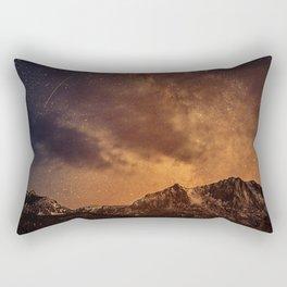 mountains with night sky Rectangular Pillow