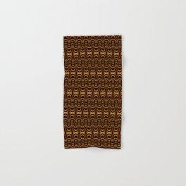 Dividers 07 in Orange Brown over Black Hand & Bath Towel