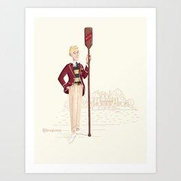 mr. Rower Art Print