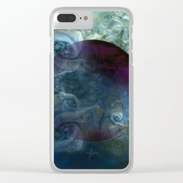 """Blue clouds on Saturn"" Clear iPhone Case"