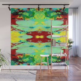 Hiesacho - Abstract Colorful Retro Style Pattern Wall Mural
