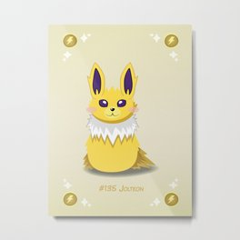 Evolution Bobbles - Jolteon Metal Print