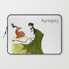 The Lady Artemis, The Goddess of the Hunt Laptop Sleeve