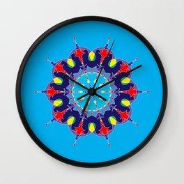 Little Red Laser Mandala Wall Clock
