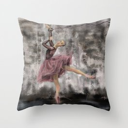 Freedom of art Throw Pillow