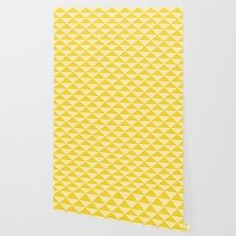 Triangles Pattern yellow Wallpaper