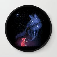 justin timberlake Wall Clocks featuring Celestial by Freeminds