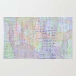 Words and Water Paint Rug