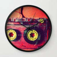 cassette Wall Clocks featuring Cassette by The 80s
