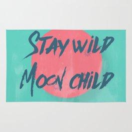 Stay wild moon child (tuscan sun) Rug