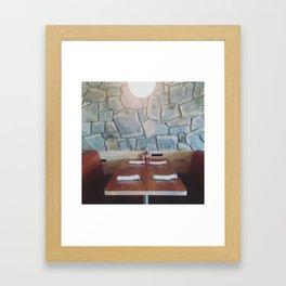 King Highway Diner, Palm Springs Framed Art Print