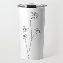 Wild flower botanical drawing - Ilana Travel Mug