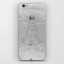 Leonardo da Vinci Vitruvian Man with Wings Study of Angels iPhone Skin