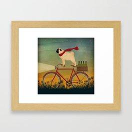 Pug Bike Framed Art Print