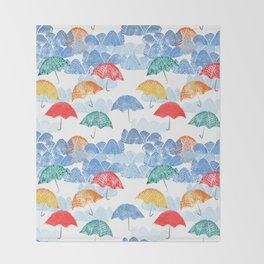 Umbrella Spring Throw Blanket