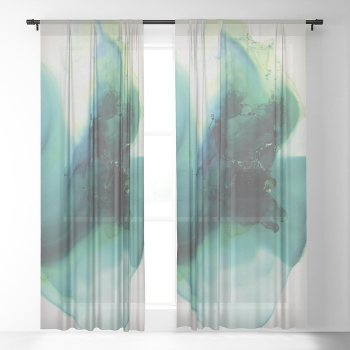 Anahata (Heart Chakra) Sheer Curtain