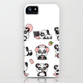 Kawaii Panda iPhone Case