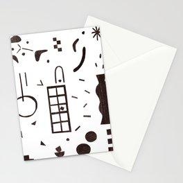 dot-line-plane01 Stationery Cards