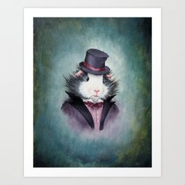 Cheswick Tiddlywink the Victorian Guinea Pig Art Print
