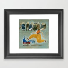 the peculiar habits of mr peacock Framed Art Print