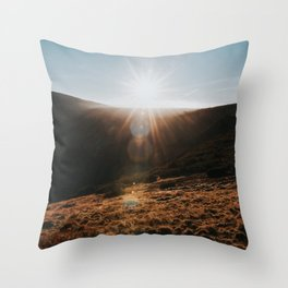 Sundown - Landscape and Nature Photography Throw Pillow
