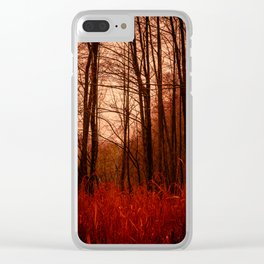 Strangeness. Dusk in the Woods. Clear iPhone Case