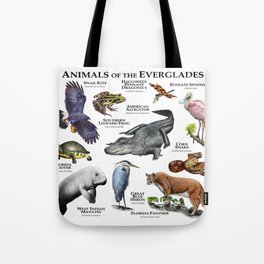 Animals of the Florida Everglades Tote Bag