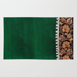 -A11- Tradtional Textile Moroccan Green Artwork. Rug