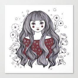 Blossom Girl Canvas Print